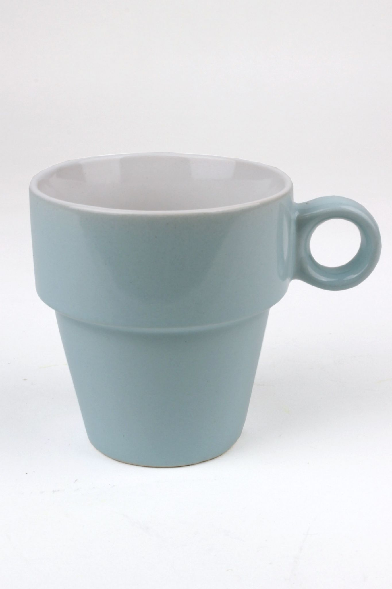 Pastel Coloured Cappuccino Cup Set Coffee Mug Tower Set Of
